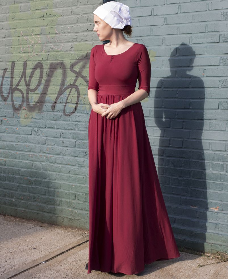 handmaids tale inspired costume - ready to send from usa now for