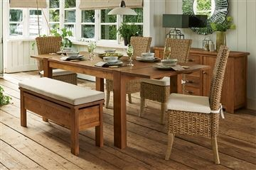 Buy HartfordR Solid Pine Extending 6 8 Seater Dining Table From The Next UK