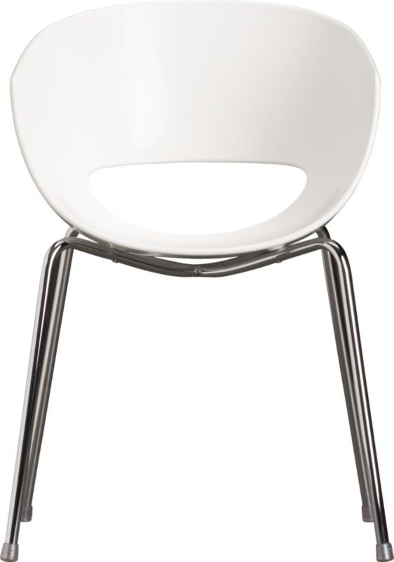Brilliant Orbit White Arm Chair Cb2 129 X4 Really Cute But Creativecarmelina Interior Chair Design Creativecarmelinacom