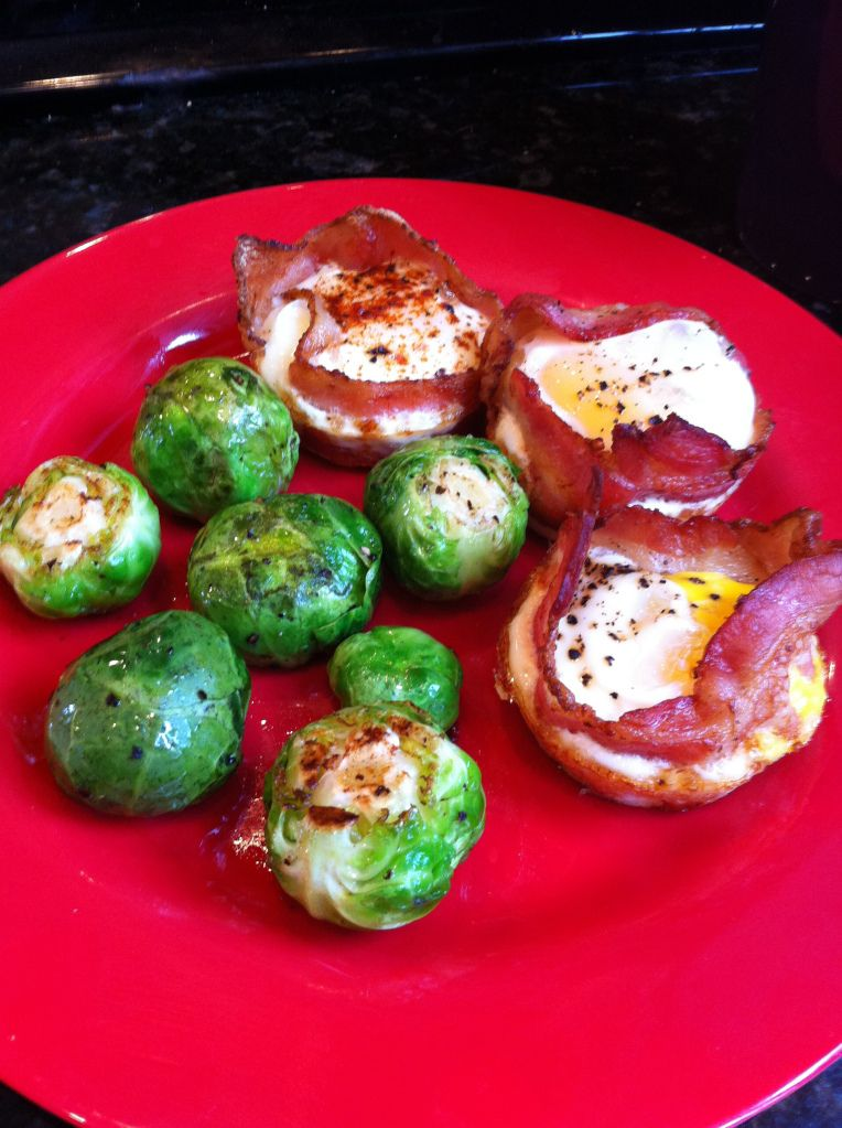 Bacon Egg Cups & Brussels Sprouts