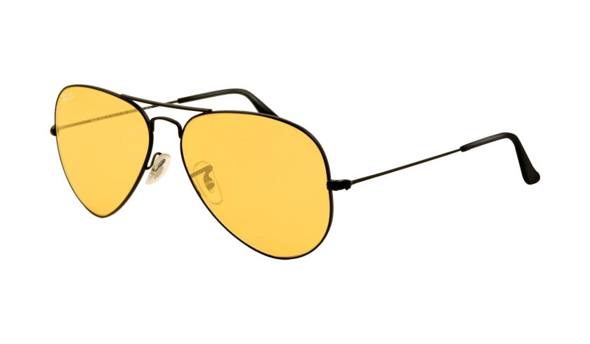 29a102fead Aviator ™ Large Metal Matte Black   Crystal Yellow Photochromic.  210.00 Ray  Ban Sunglasses Outlet