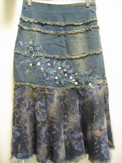 Unique Denim Skirts Found at Apostolic Clothings Website