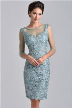 L couture evening dresses knee