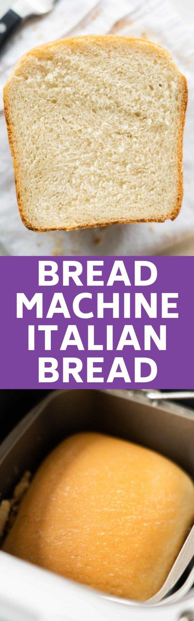 Bread Machine Italian Bread | Recipe in 2020 | Italian ...