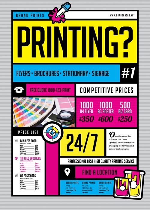 Free Print Shop Flyer Template  HttpFreepsdflyerComFree