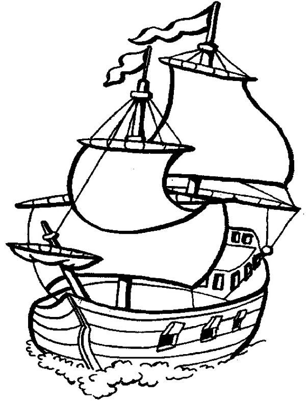 Printable Sailboat Coloring Pages | Coloring pages ...