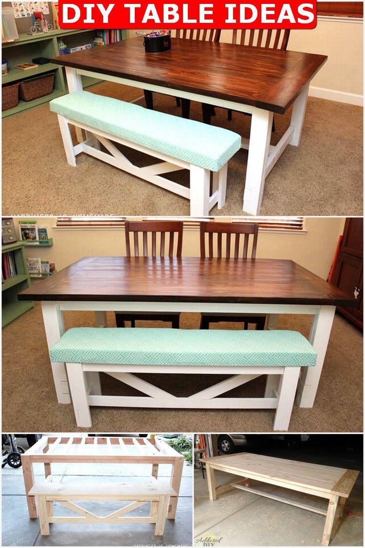 30+ DIY Table Ideas to Beautify your Home Farmhouse