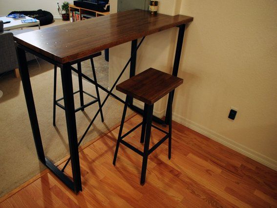 Marvelous Butcher Block Pub Table
