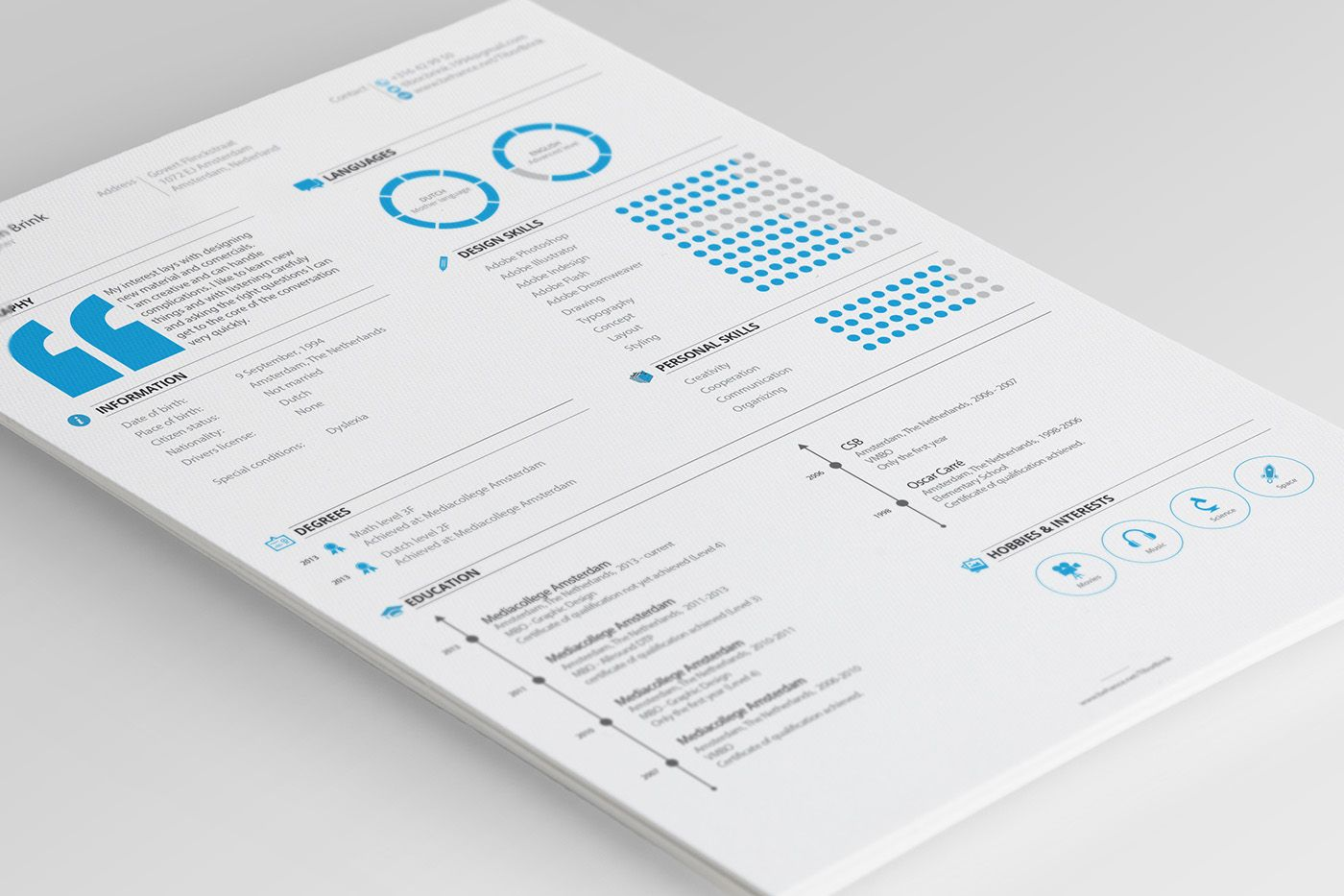 Personal Resume & Promotion on Behance Personal resume
