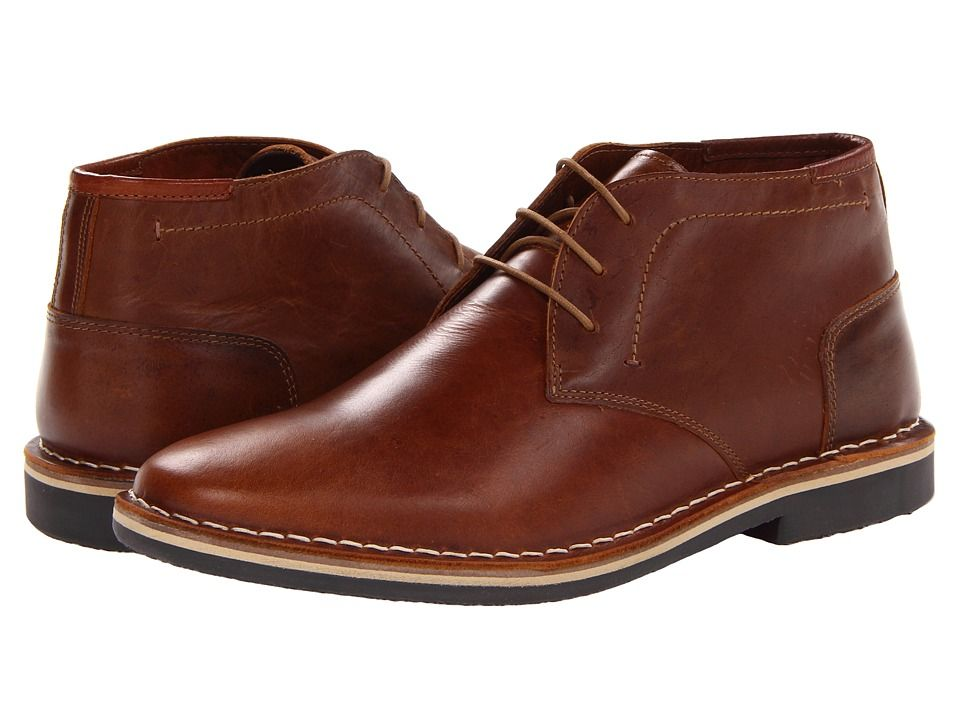 dc514961da1 Steve Madden Harken Men's Lace-up Boots Cognac Leather | Products in ...