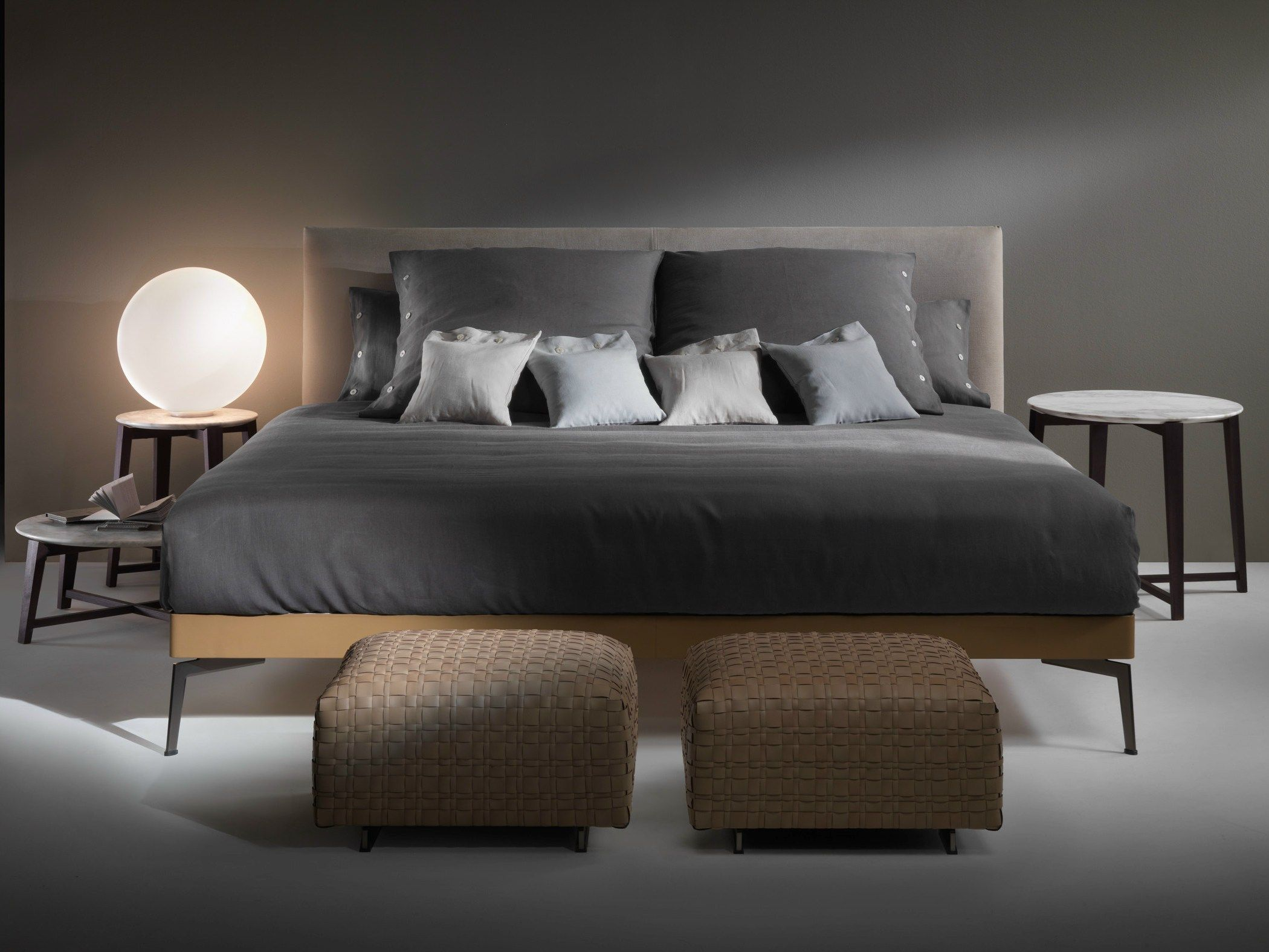 Double bed with removable cover THIN by Bonaldo design Giuseppe