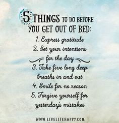 5 things to do before you get out of bed.