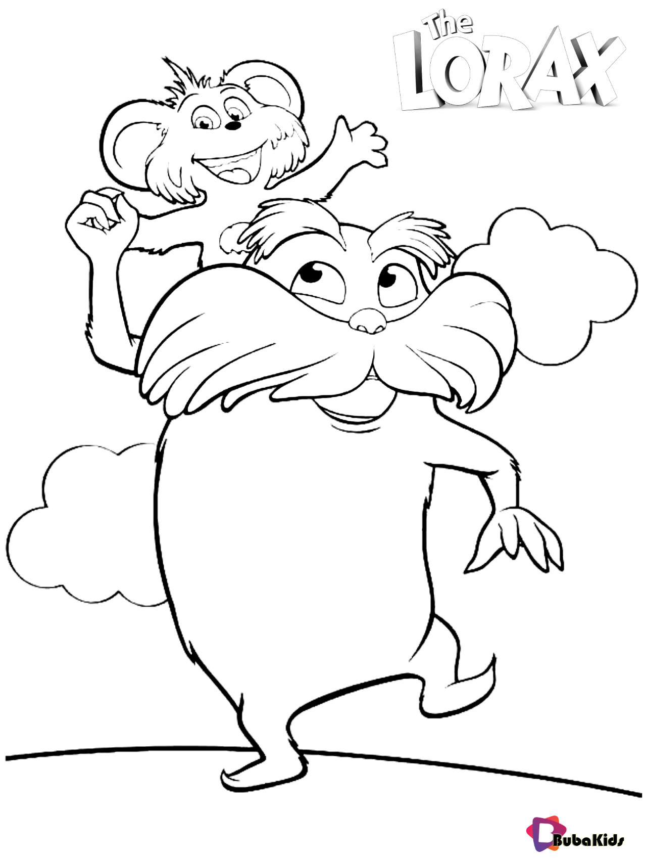 Dr Seuss The Lorax Coloring Pages In With Images