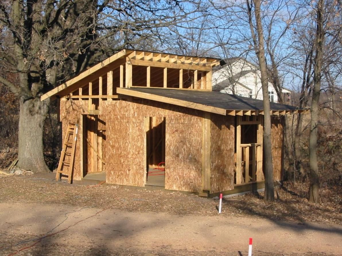 shed roof Bing Images Cabin Construction & Framing