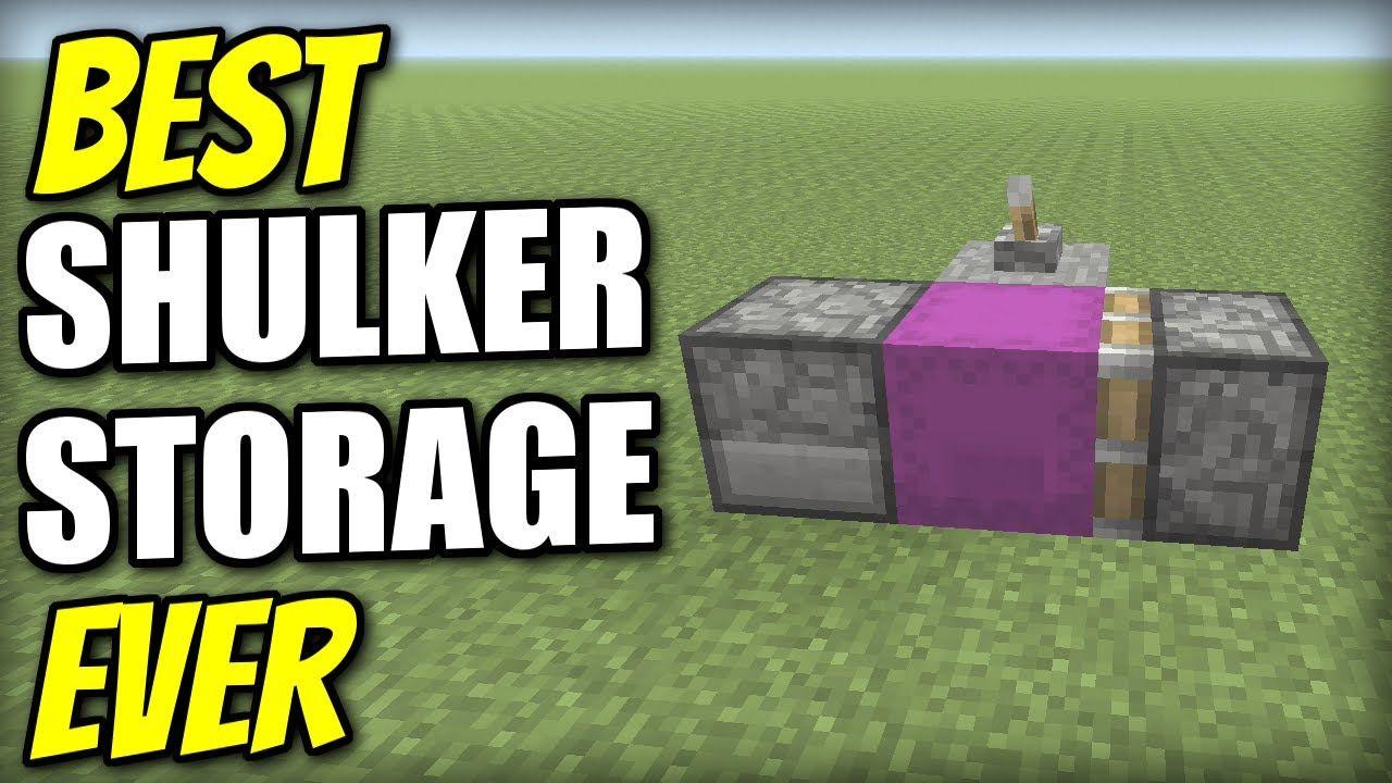 Minecraft best shulker storage ever redstone tutorial