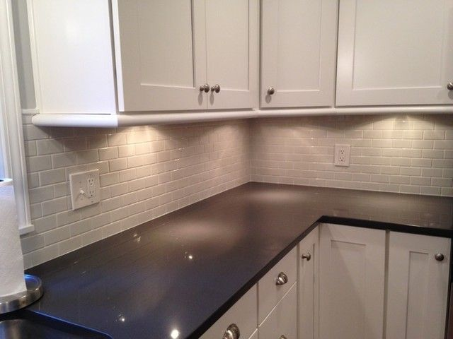 Bright Clean White Kitchen Backsplash Tile Amalfi Gloss