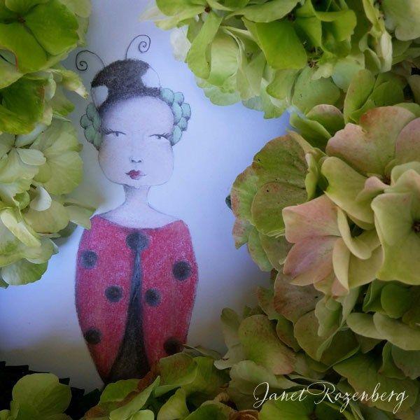 Ladybug - pencil pastel drawing painting shadowheartchallenge day 18