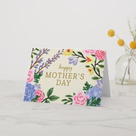 French Country Botanical Mother S Day Card Zazzle Com Mother S Day Greeting Cards Happy Mother S Day Greetings Birthday Cards