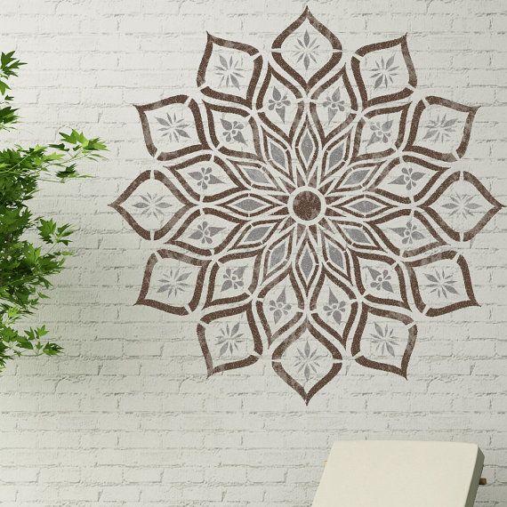 Kanpur Mandala Stencil Indian Boho Reusable Wall Stencil By
