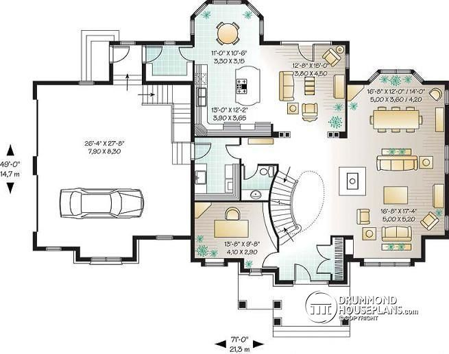 Discover The Plan 3837 Keira Which Will Please You For Its 3 4 Bedrooms And For Its European Styles House Floor Plans Modern House Floor Plans House Plans