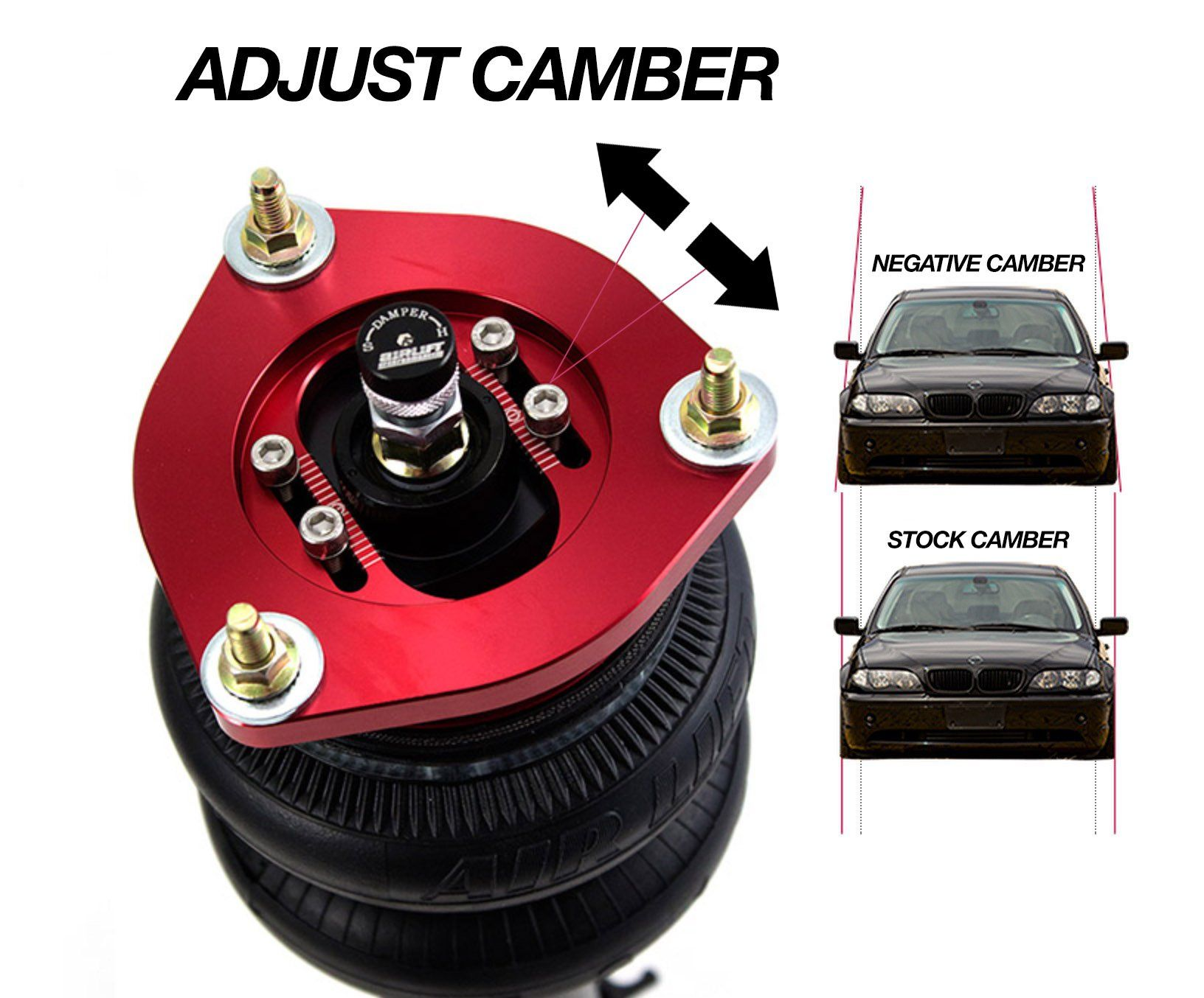 Adjustable Camber Top Mounts Cute Cars Air Ride Coilovers