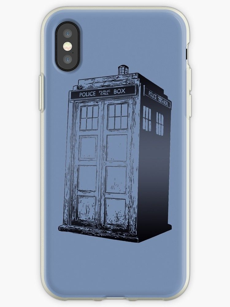Doctor Who Tardis Box iphone case