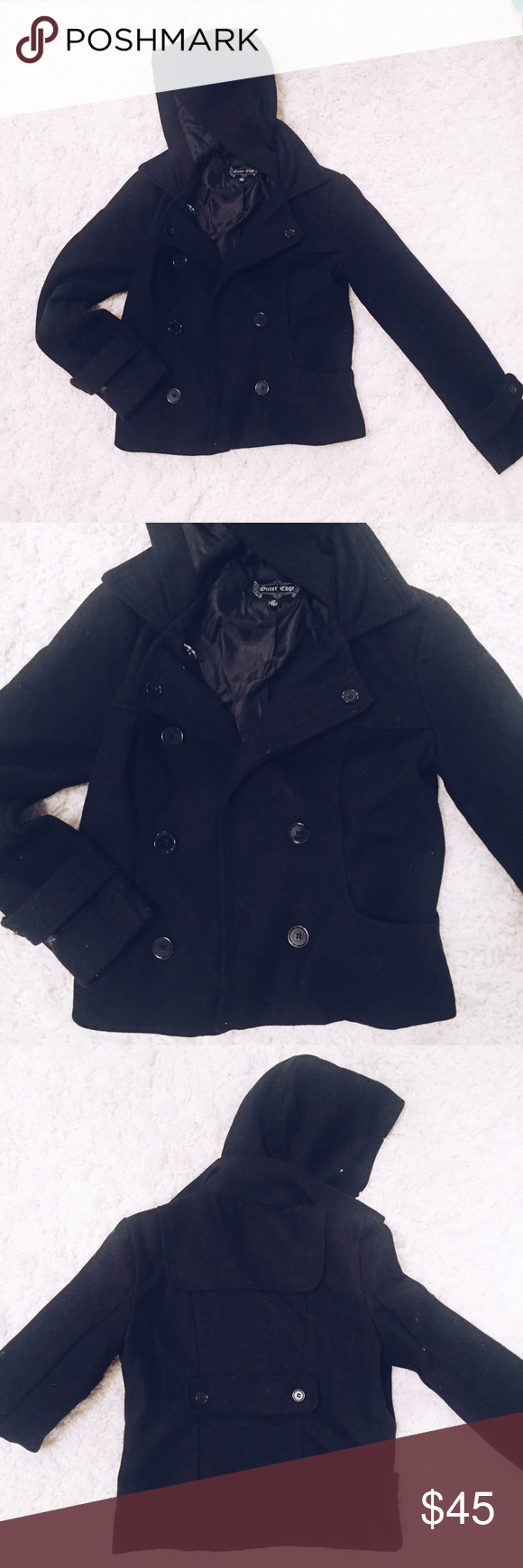 Pea coat   Pacsun and Hoods