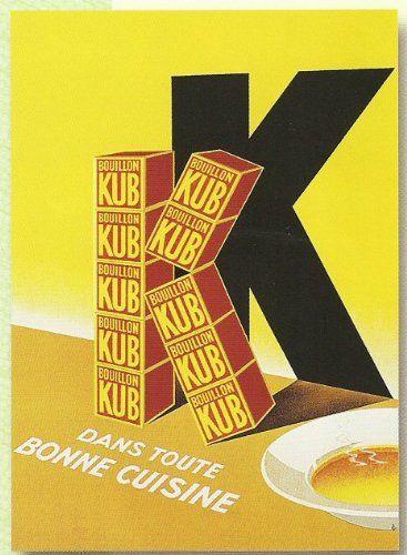 plaque metal 20x15cm publicite ancienne bouillon kub. Black Bedroom Furniture Sets. Home Design Ideas