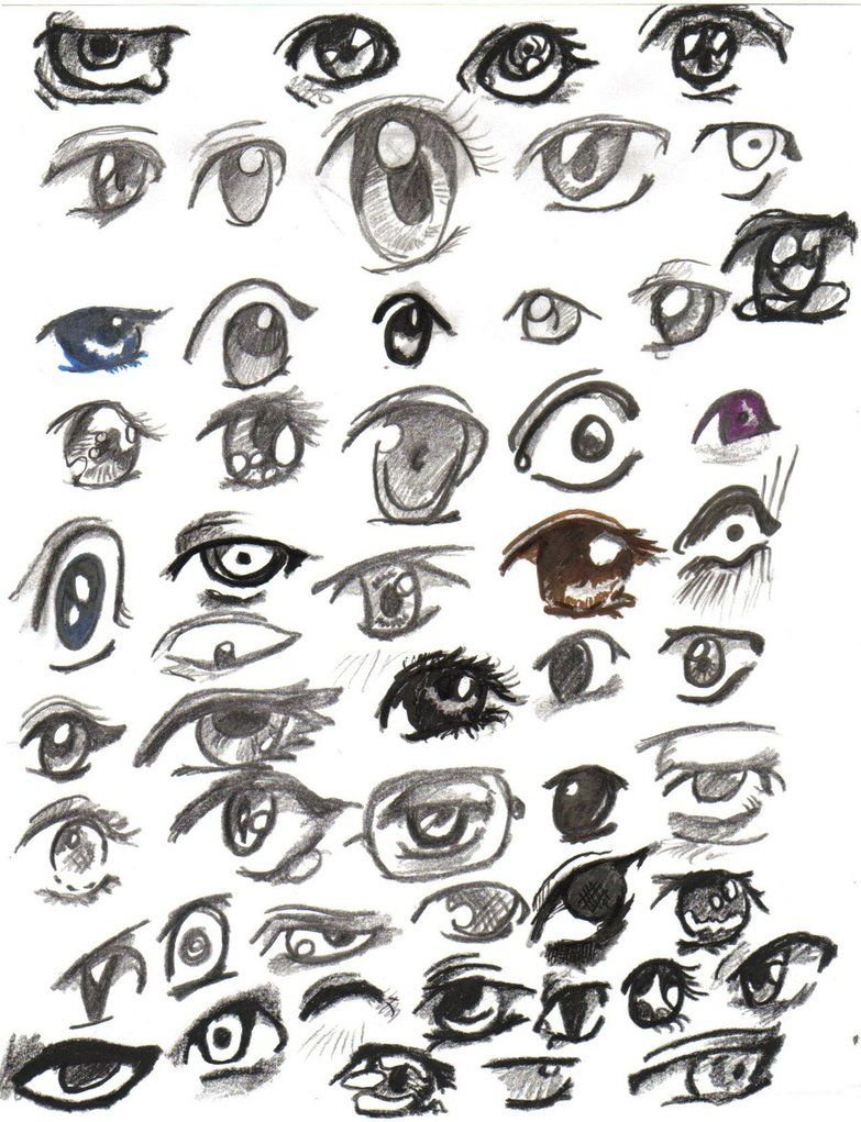 drawing manga girl eyes How to Draw Different Manga Eyes