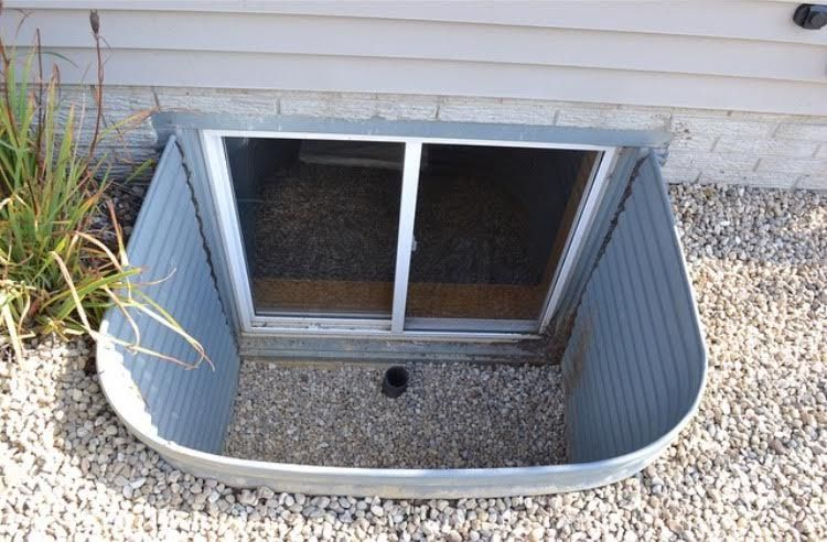 This Is A Perfect Example Of An Unsafe Window Well Cover Your Wells With One Of Our Custom Covers Keep You Basement Window Well Window Well Window Well Cover