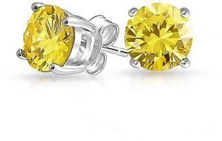 Bling Jewelry Round Cz Simulated Yellow Topaz November