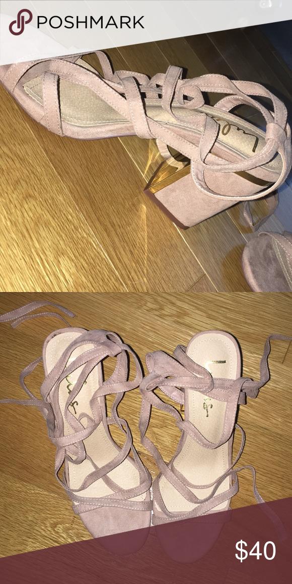 b051335109 Heels Mauve suede Ailsa heels Brand new