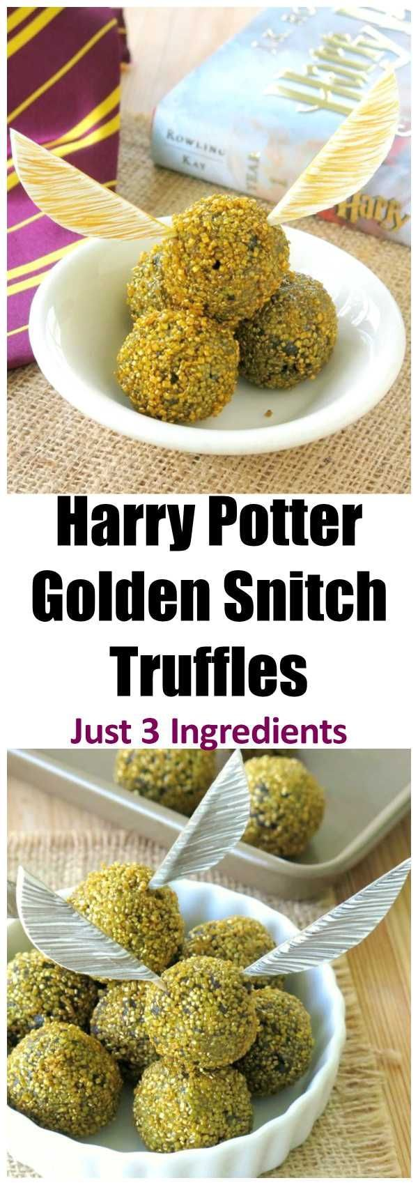 harry potter golden snitch truffles recipe just 3 ingredients plus