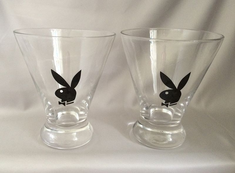 Superior TWO Vintage Playboy Cocktail Rocks Lowball Bar Glasses, Great Vintage  Barware, Playboy Bunny Club Collectible   Hard To Find! Really Cool Set Of  Clear ...