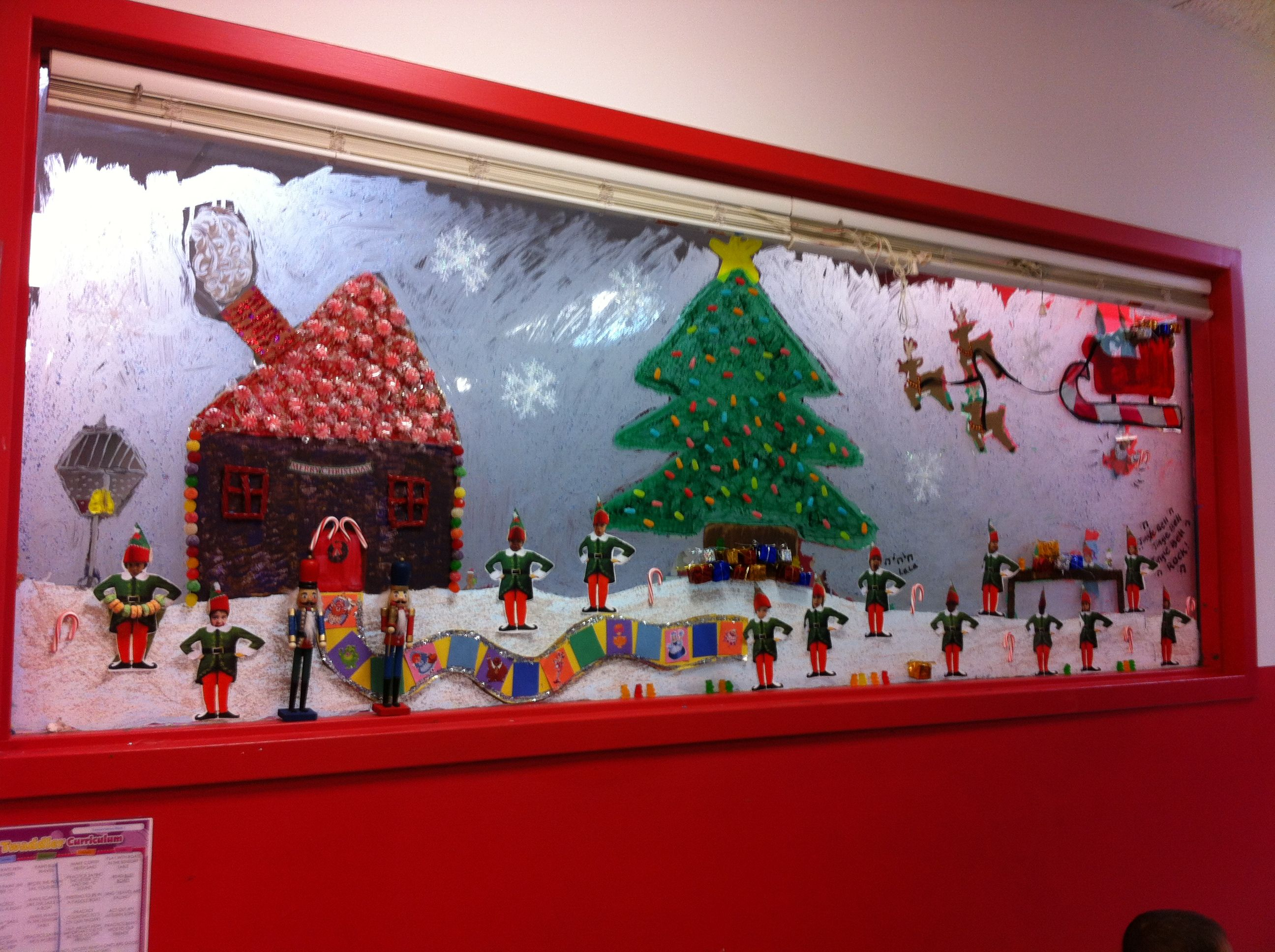 Daycare Window Winter Wonderland