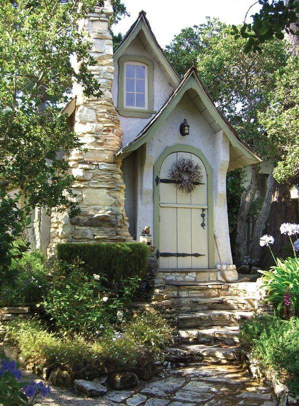 Photo of Hidden cottage/craftsman style, stonework chimney…