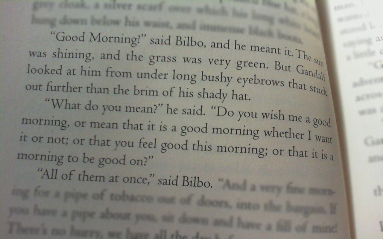 Good Morning Hobbit Quote: True Courage Quotes The Hobbit