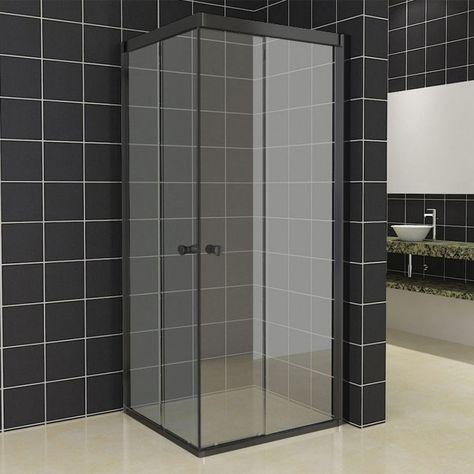 269euros Deze vierkante douchecabine maakt gebruik van een