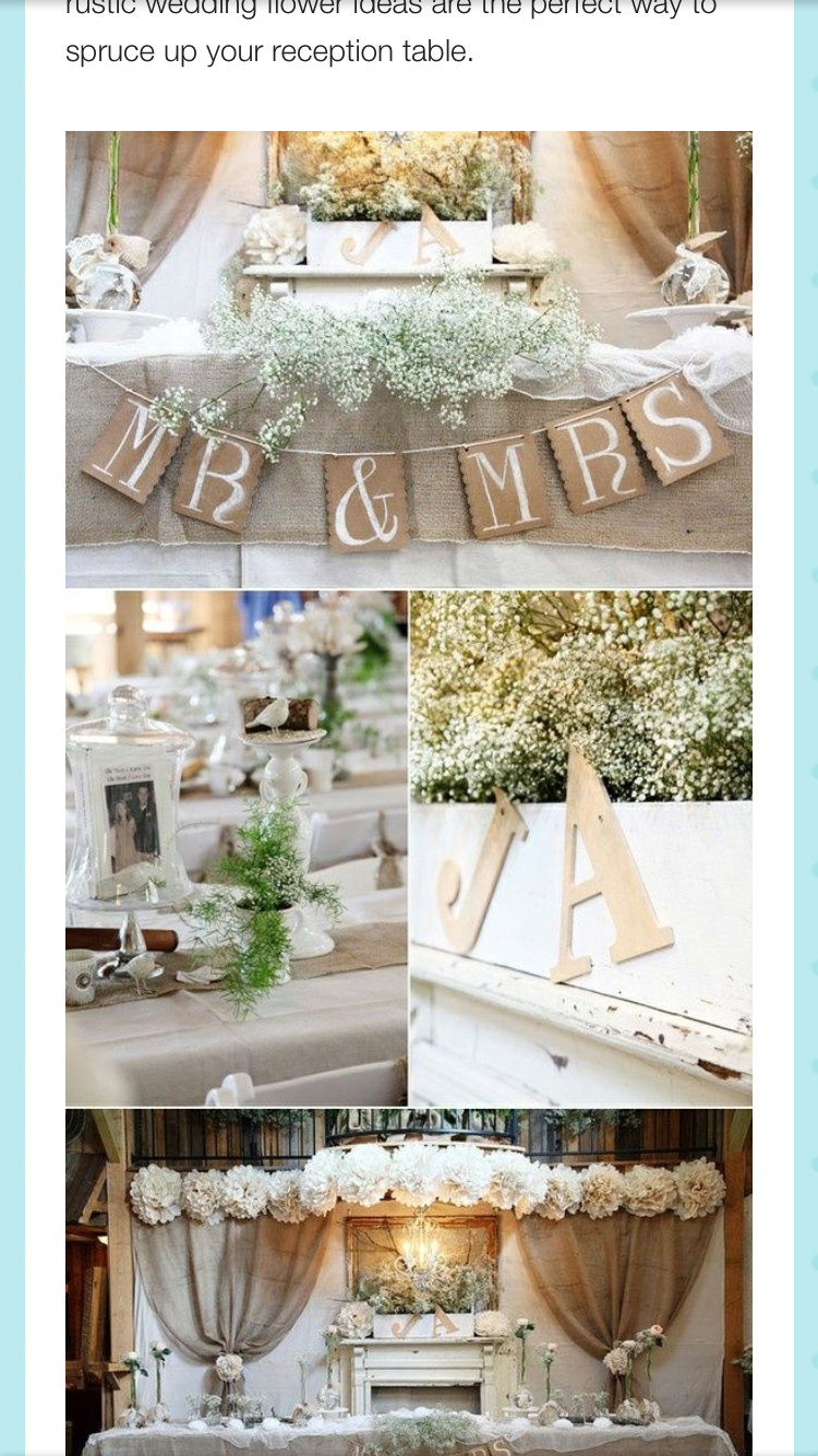 Pin de nina b en wedding shizzz pinterest - Decoracion rustica chic ...