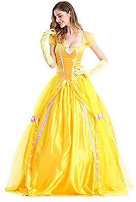 Karneval Klamotten Kostüm Belle Märchen Prinzessin Dame