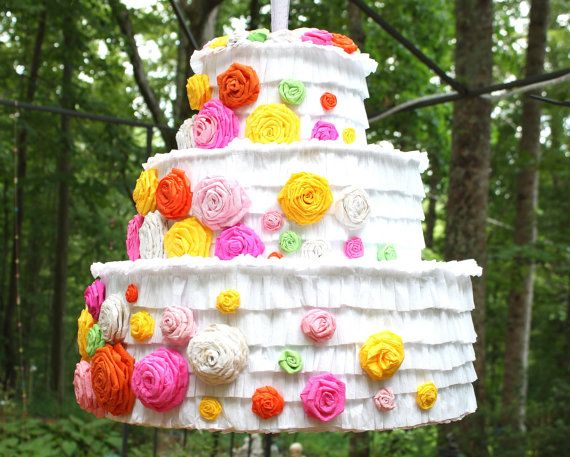 wedding cake pinata custom anniversary by. Black Bedroom Furniture Sets. Home Design Ideas