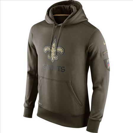 the best attitude 8b84c 37b1e Nike New Orleans Saints Army Green Salute To Service Hoodie ...