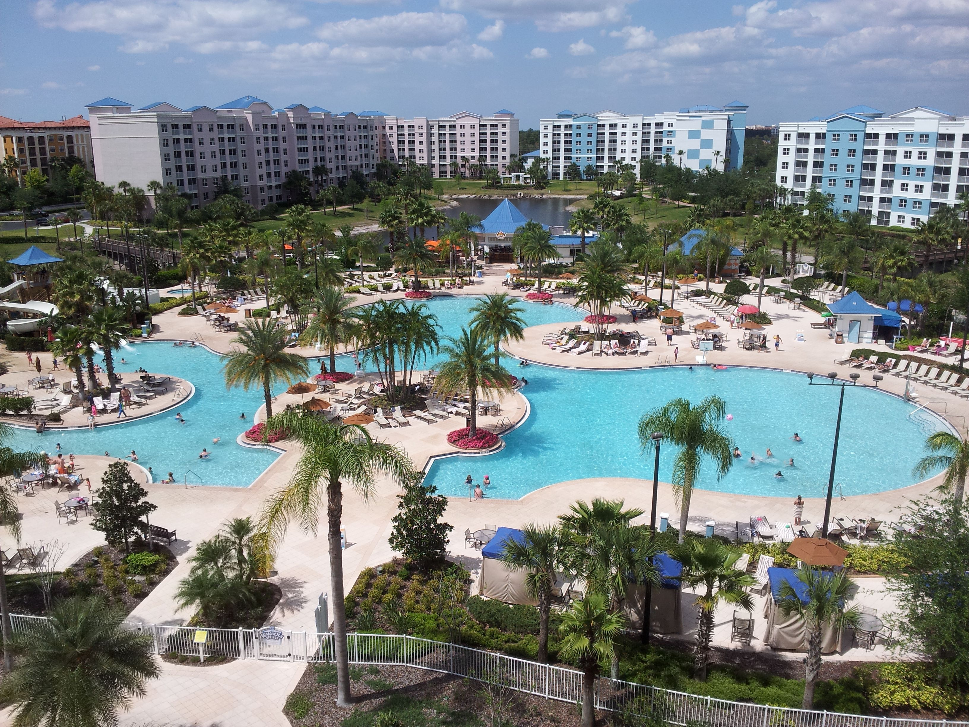 The Fountains Resort in Orlando Florida. View from a 6th