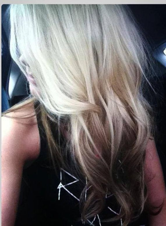 Ombre Hair Extensions Blonde Dip Dye Opper Tie Red Brown Dye