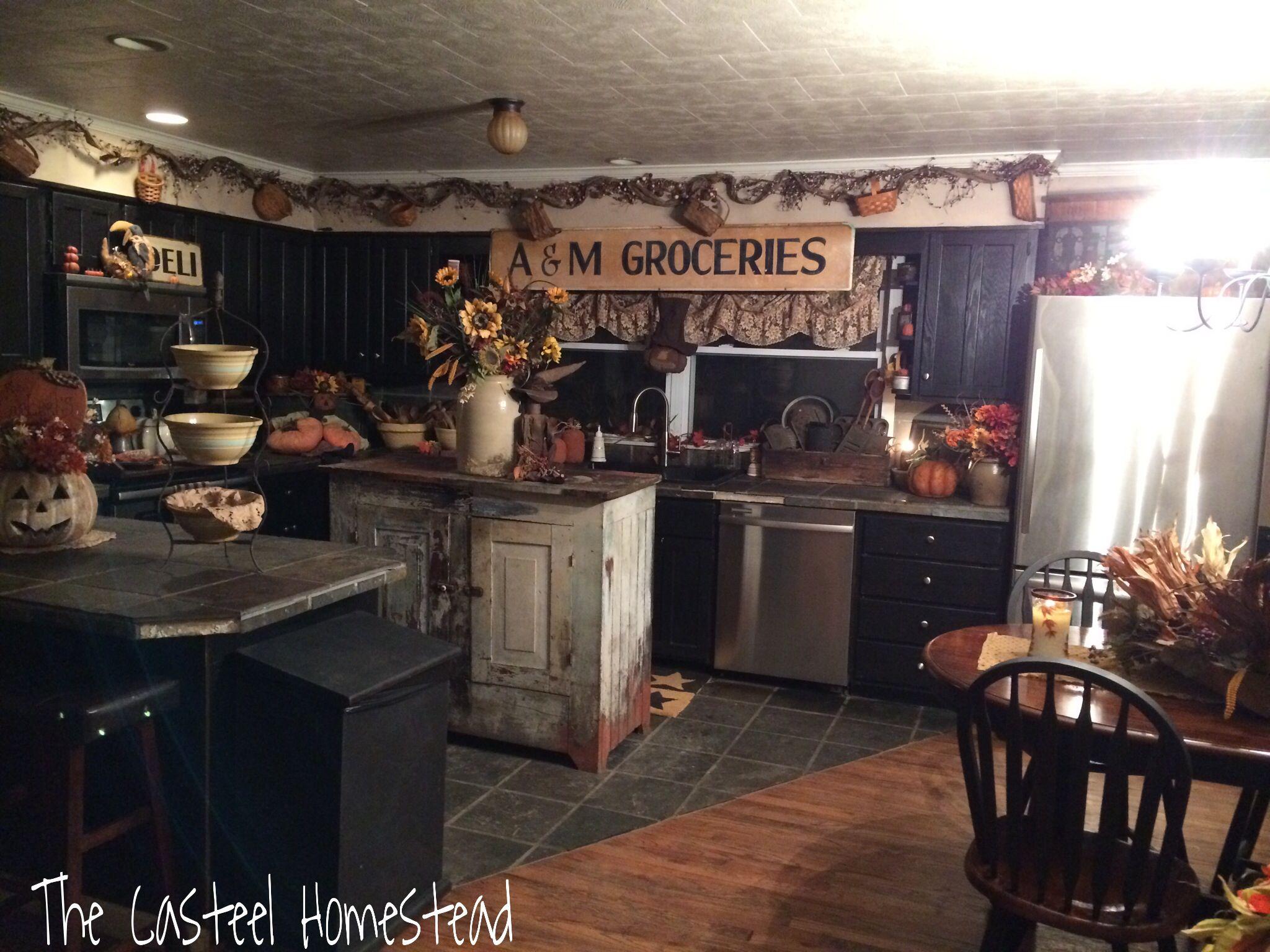 surprising Primitive Decor Kitchen Part - 17: Jozy Casteel Primitive kitchen :)