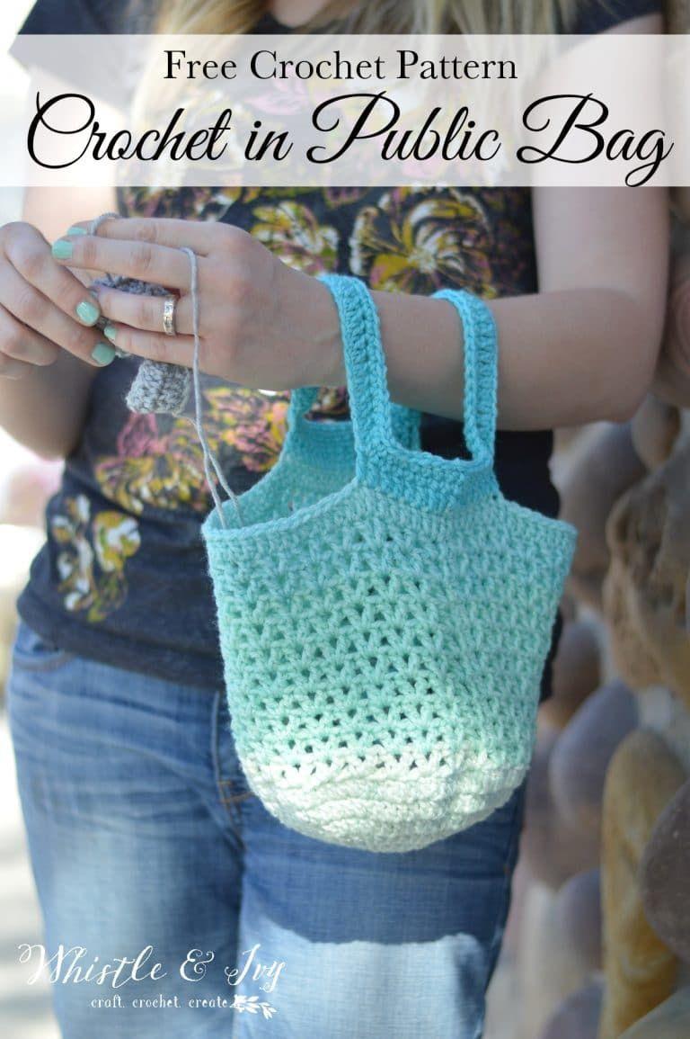 Crochet in Public Bag Pattern - Free Crochet Pattern
