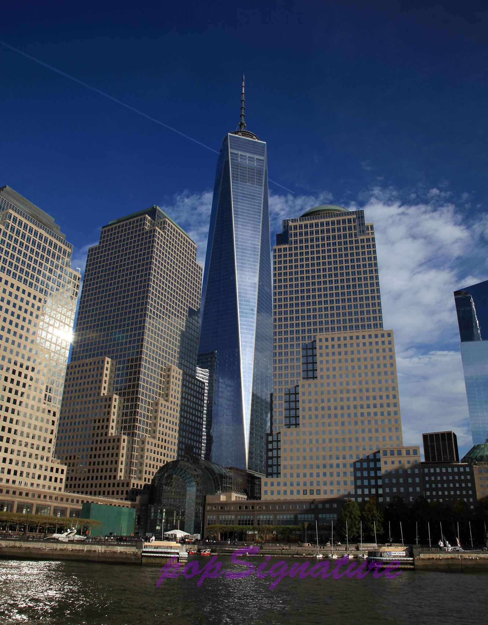 the freedom tower in wall street new york city with on wall street news id=33299