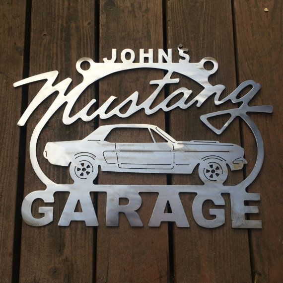 86172c854ec97 Personalized Custom Ford Mustang sign Metal Garage sign Personalized ...