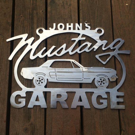 Custom Car Garage Signs : Mustang st generation sign steel metal garage custom