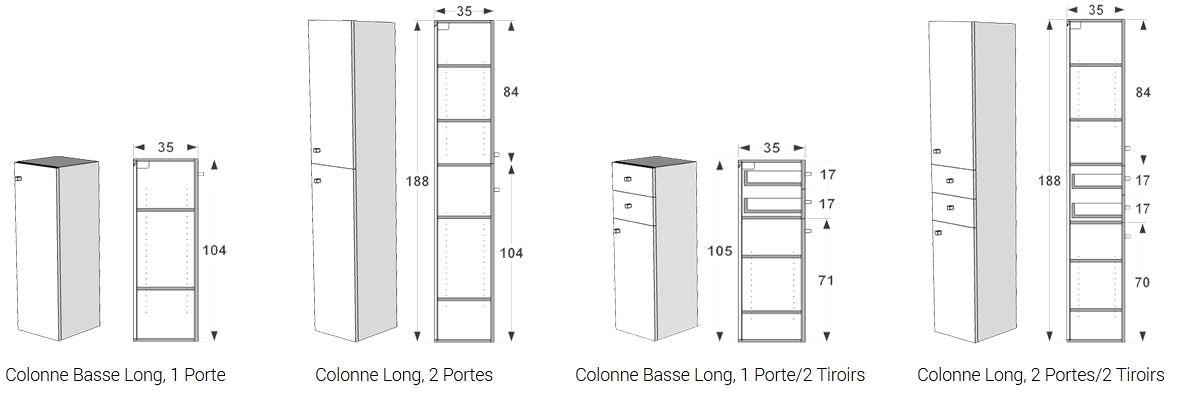 meuble colonne largeur 20 cm trick